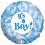 Its A Boy Footprint 18 Inch Foil Balloon