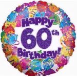 60th Party 18 Inch Foil Balloon
