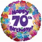 70th Party 18 Inch Foil Balloon