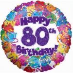 80th Party 18 Inch Foil Balloon