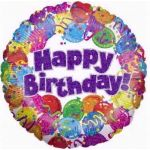 Birthday Party 18 Inch Foil Balloon