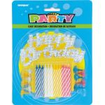 Birthday Silver Cake Topper (pack quantity 12)