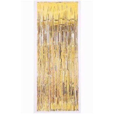 Gold door curtain