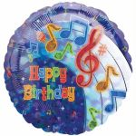 Party Tunes 18 Inch Foil Balloon