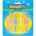 Striped Coil Candles (pack quantity 4)