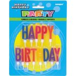Happy Birthday Letter Candles And Holders