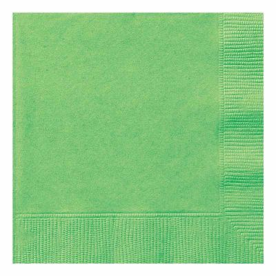 2ply Lime Green 33cm Napkins (pack quantity 20)