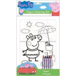 Peppa Pig Jigsaw Colouring Set