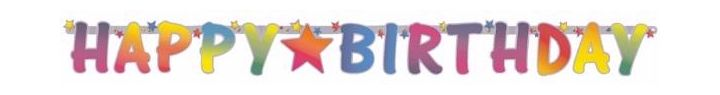 Bright Happy Birthday Letter Banner