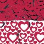 Red Hearts Metallic Confetti