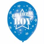 Birthday Boy 11 Inch Latex Balloons (pack quantity 6)