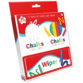 Twin Pack Of Chalk Boxes & Wiper