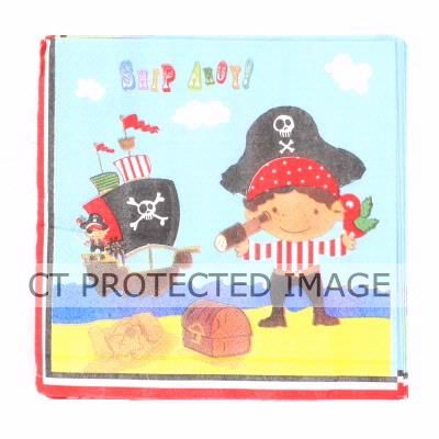 2ply Pirates Napkins (pack quantity 20)
