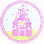  9 Inch Fairy Castle Plates (pack&nbsp;quantity&nbsp;8) 