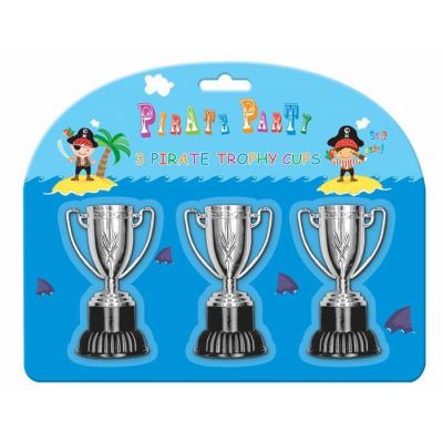 Pirates Trophy Cups (pack quantity 3)