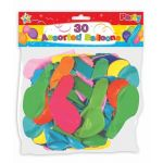 Assorted Balloons (pack quantity 30)