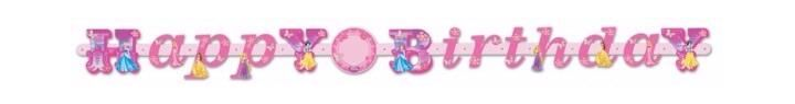 Princess Add Age Letter Banner (pack quantity 1)