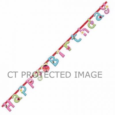Garden Girl Birthday Banner