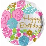 Botanical Birthday 18 Inch Foil