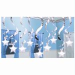 Silver Stars Ceiling Decoration