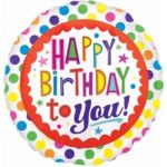 Birthday Dots 18 Inch Foil