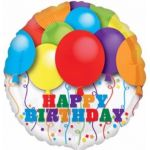 Bright Balloons Birthday 18 Inch Foil