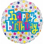Birthday With Diamonds 18 Inch Foil