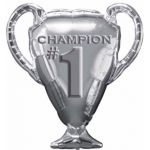 No1 Trophy Champion Super Shaped Foil Balloon