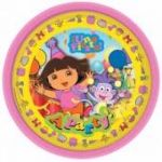 Dora The Explorer 22.8cm Plates (pack quantity 8)