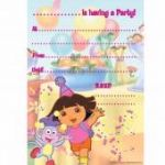 Dora The Explorer Invitations (pack quantity 20)