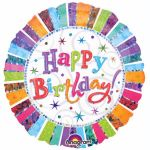 Radiant Birthday 18 Inch Foil Balloon