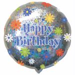 Daisies Birthday 18 Inch Foil Balloon