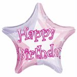 Pink Shimmer Birthday 19 Inch Foil Balloon