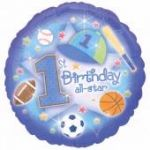 1st Birthday All Star 18 Inch Foil Balloon