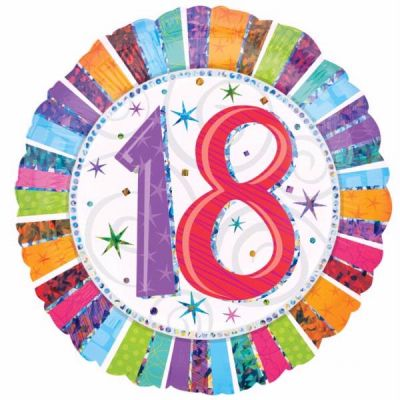 Radiant 18th Birthday 18 Inch Foil Balloon
