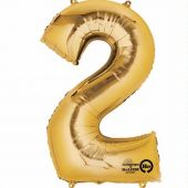 Gold Number 2 Jumbo Foil Balloon