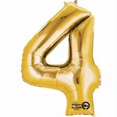 Gold Number 4 Jumbo Foil Balloon