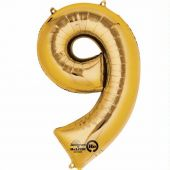 Gold Number 9 Jumbo Foil Balloon
