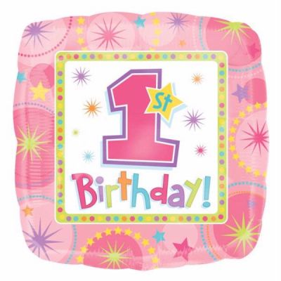 One-derful Birthday Girl 18 Inch Foil Balloon