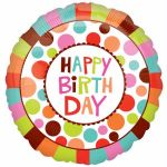 Happy Birthday Dots 18 Inch Foil Balloon