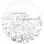 Engagement Congratulations 18 Inch Foil Balloon