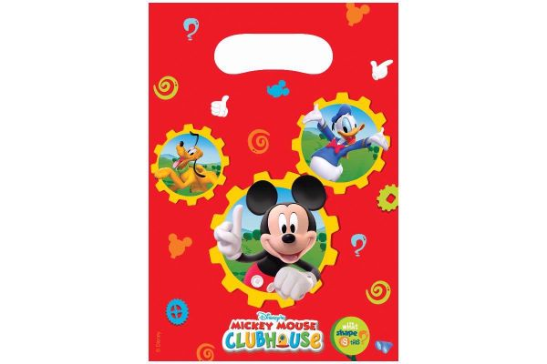  Mickey Club House Party Bags (pack&nbsp;quantity&nbsp;6) 
