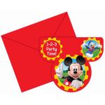  Mickey Mouse Invitations (pack&nbsp;quantity&nbsp;6) 
