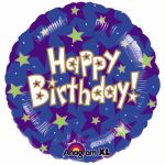 Happy Birthday Stars 18 Inch Foil Balloon