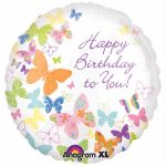 Birthday Butterflies 18 Inch Foil Balloon