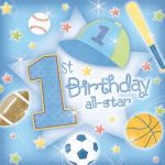  1st Birthday All Star 33cm Napkins (pack&nbsp;quantity&nbsp;36) 
