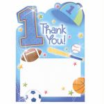 1st Birthday All Star Thank You Cards (pack&nbsp;quantity&nbsp;20) 