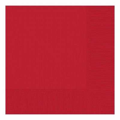 3ply Red 33cm Napkins (pack quantity 20)