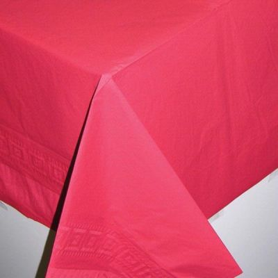 54x108 Inch 3ply Lined Red Tablecover