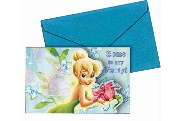 Tinkerbell Invitations (pack quantity 6)